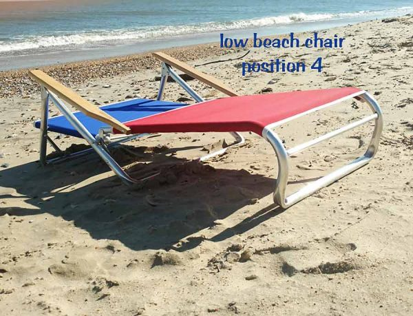 low beach chair position 4